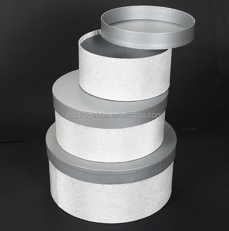 gros luxe empilable ronde carton cadeau bo te chapeau d coratif papier bo te ronde buy. Black Bedroom Furniture Sets. Home Design Ideas