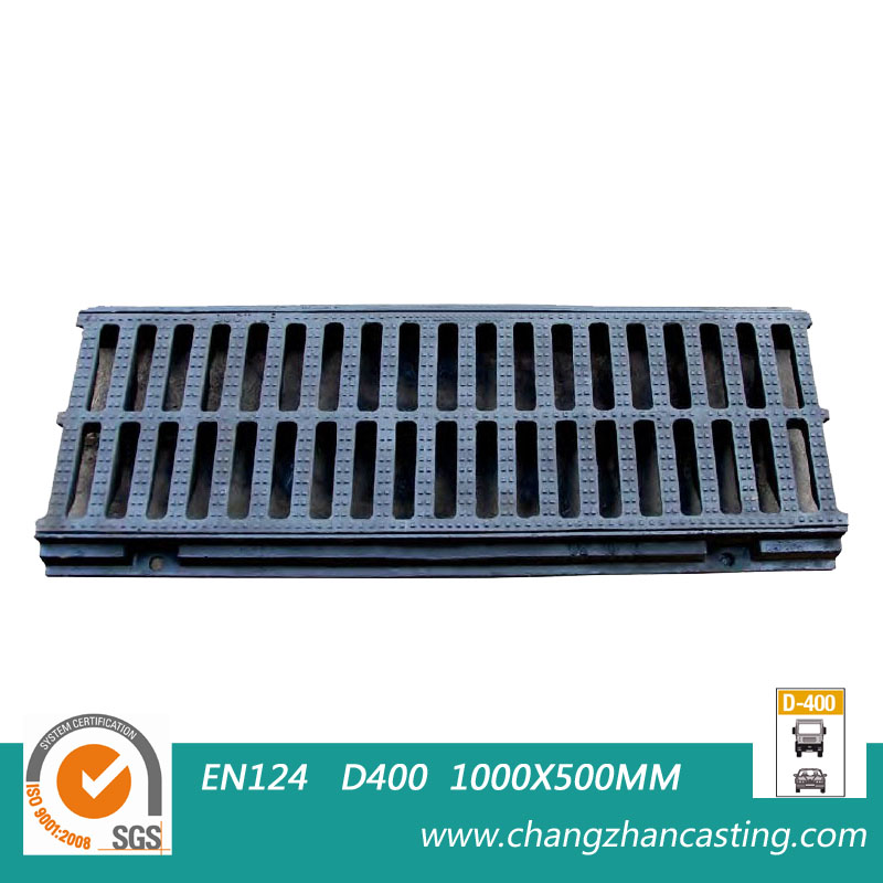 EN124 E600 Ductile Iron Gully Grates with frame