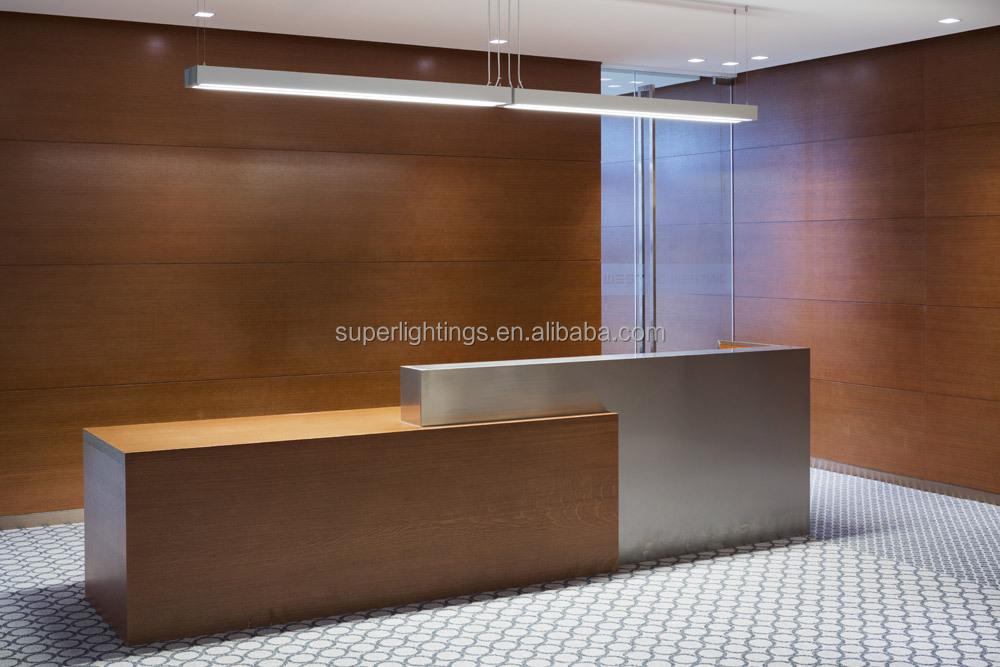 Office Lighting Fluorescent Lighting Fixture Aluminum Profile For ...