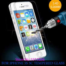 0.26 mm for iphone 5 Tempered Glass  for iPhone 5 Screen Protector Screen Protector 5c premium 5S Front clear screen protector