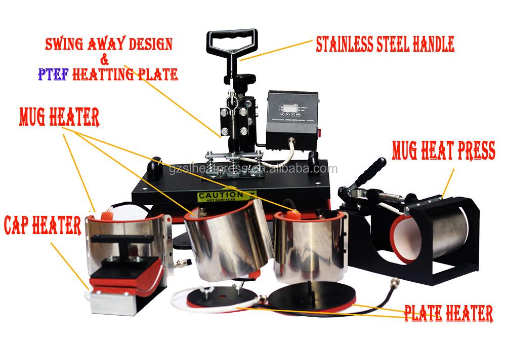 8 in 1 t shirt printing machine mug cap printing heat for T shirt printing machine cost in india