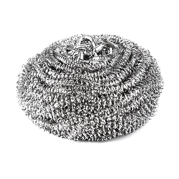 Kitchen cleaning stainless steel wire scourer ball silver metal pot pan dish scourer