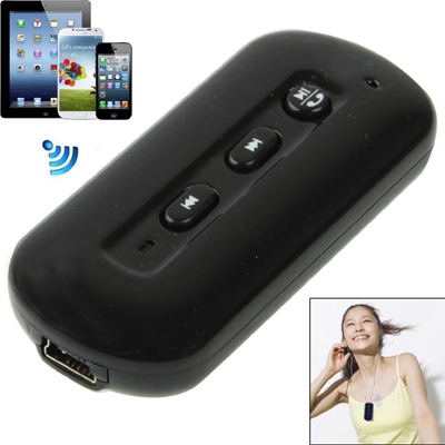 Portable Stereo Bluetooth Adapter for iPhone and Other Bluetooth Devices