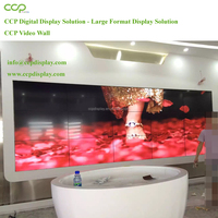 CCP Factory Cost Effective 3.5mm Super Narrow Seamless Bezel Tiled 55 Inch 4k Video Wall With Original Samsung lg Did Panels