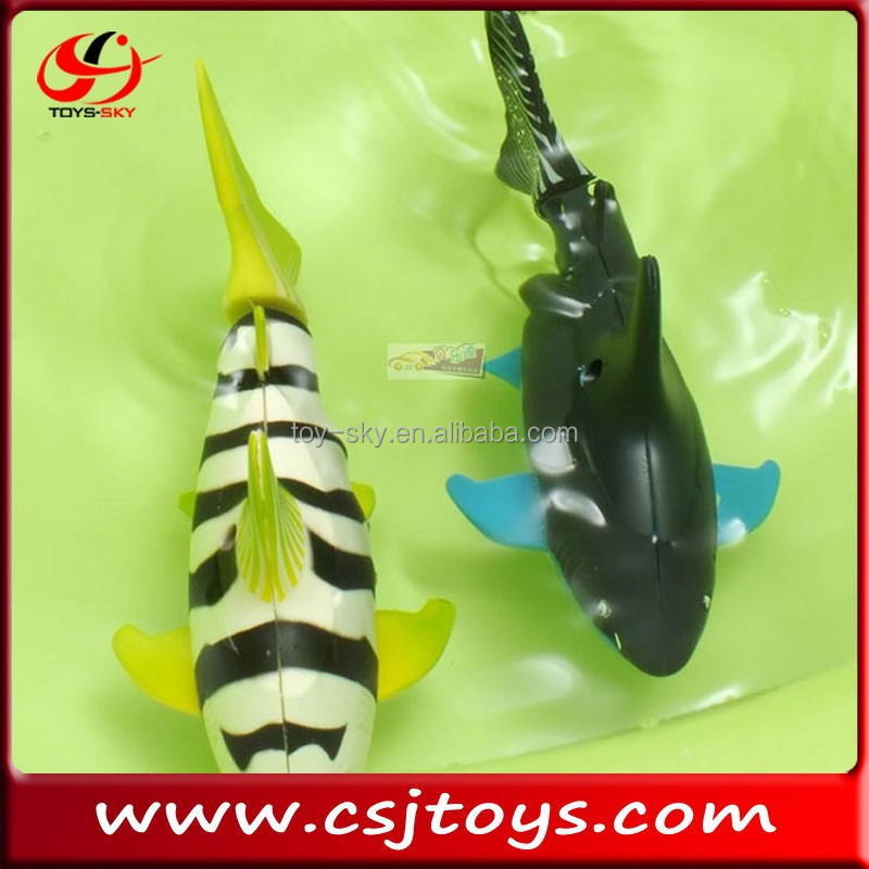 2014 New R/C toys Remote control fish Toy electric robot fish Mini RC Swimming Shark