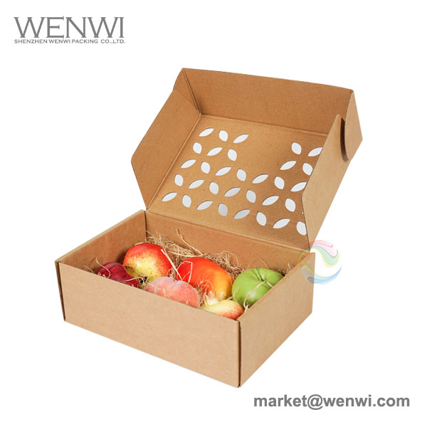 2018 New Corrugated Paper Fruit Box Packaging for Apples