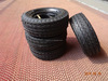 Twist pattern small rubber wheels for toys tyre 6x2