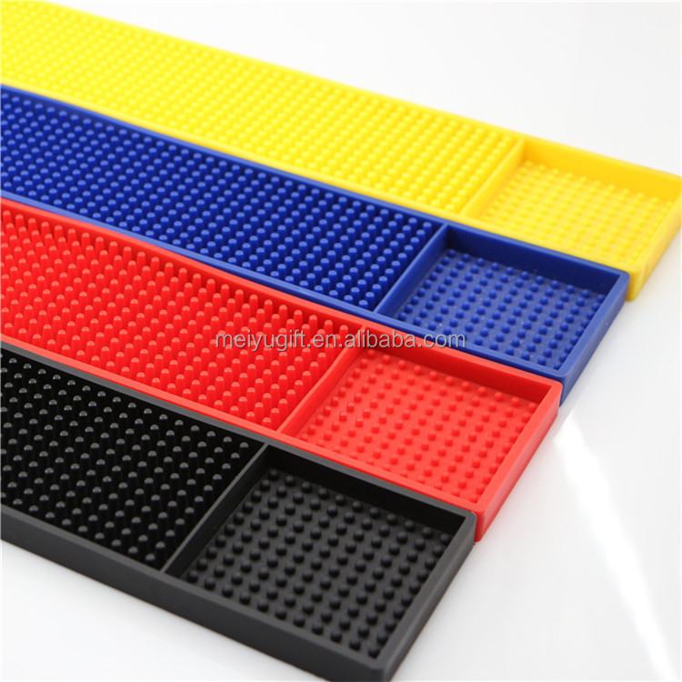 High quality customize embosse logo microscler soft pvc bar mat