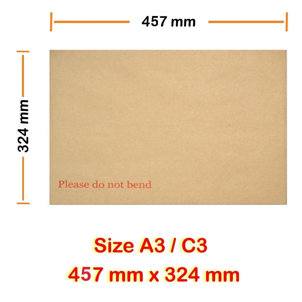 A6 C6 SIZE HARD BACK CARDBOARD PLEASE DO NOT BEND ENVELOPES MANILLA BROWN 128GSM