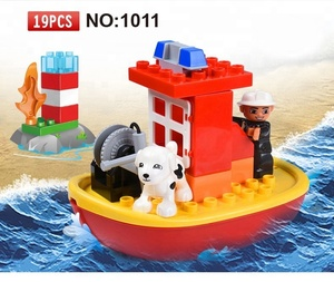Shantou toy City fire control big building blocks toys with legoing duplo set
