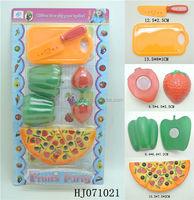 Plastic Cutting Toys Fruits Set, Cutting Food Toys, Kitchen Toys Set HJ071021