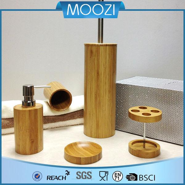 Salle de bains en bois accessoire spa ensembles bambou - Accessoire salle de bain bois ...