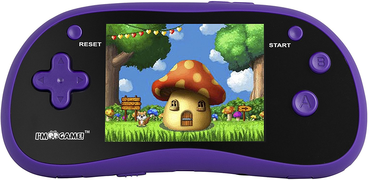 "I'm Game Handheld Game Player With 3"" Color Display and 180 Games- Portable Gaming Console – Available in blue, pink and purple colors"