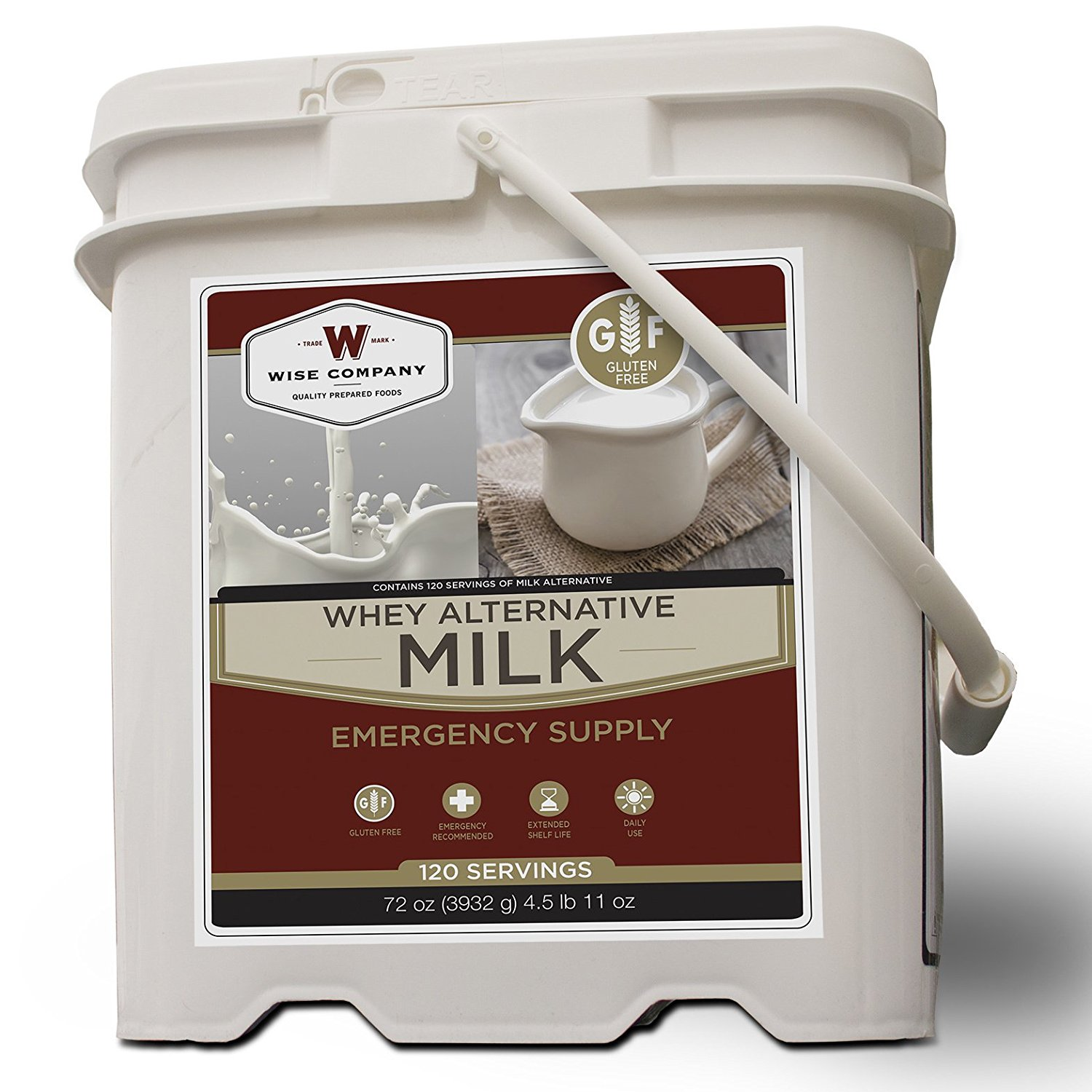 Wise Foods Company MK01-120 Serving Grab and Go Milk Bucket