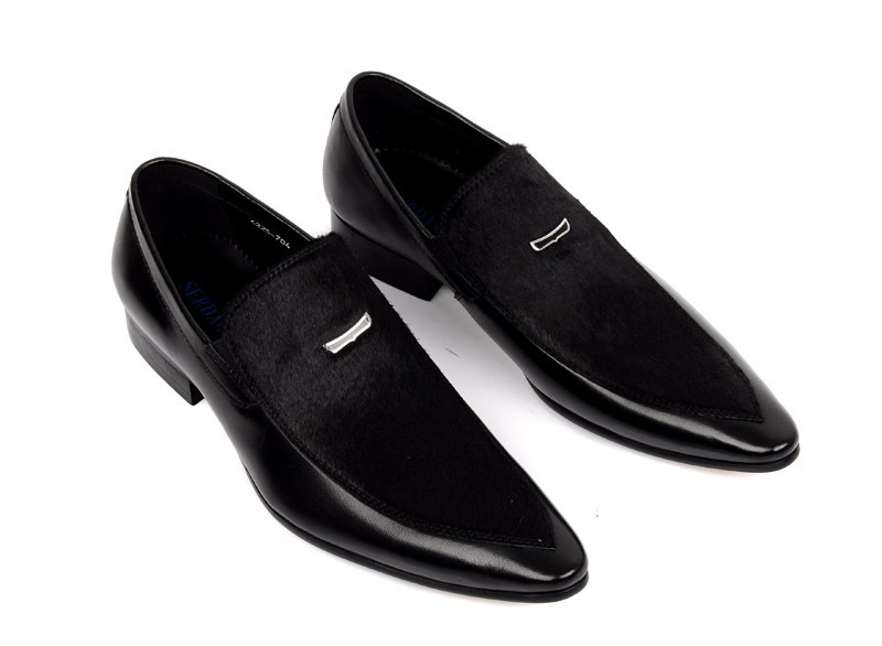 New 2015 spring mens shoes pointed-toe slip-on genuine leather attractive and durable fashion dress men shoes size :6.5-11 OX111