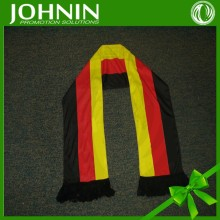 Sublimation printing promotional knitted fabric custom football fans scarf