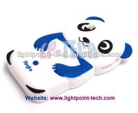 Kongfu Panda 3d silicon animal case for iphone 4