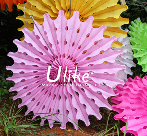 Large Paper Party Wedding Decorative Fan Flowers Designs Paper ...