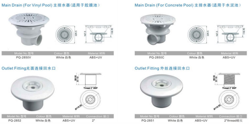 Pq2850c Swimming Pool Accessories Outlet Fitting Buy Outlet Fitting Pool Useful Outlet Fitting