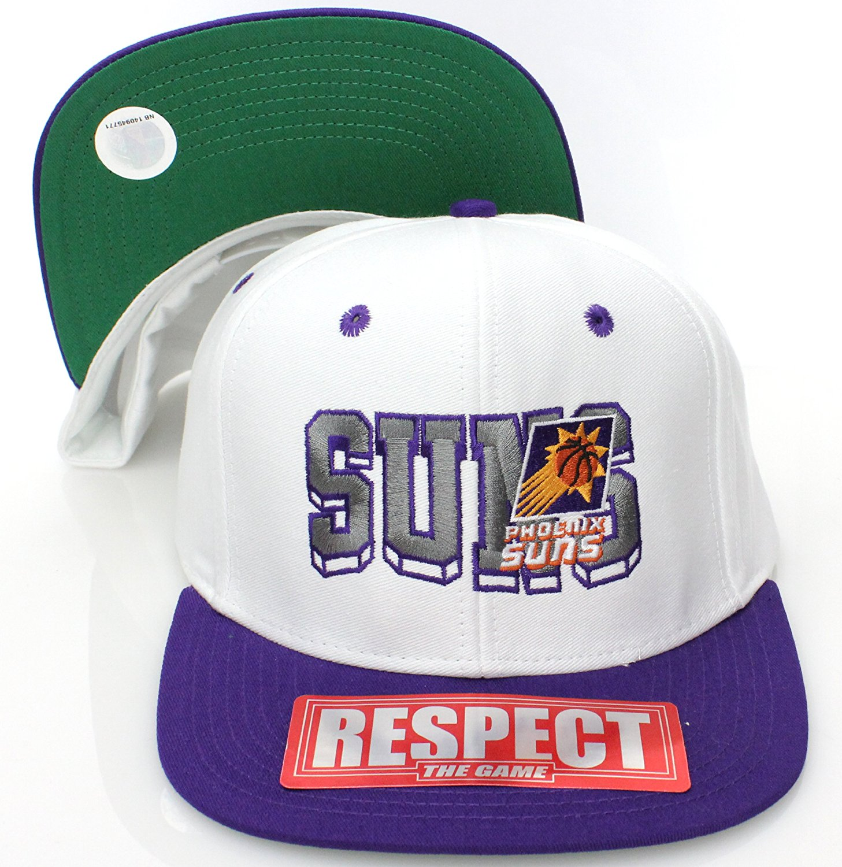 Get Quotations · Phoenix Suns Retro SL Snapback Cap Hat White Purple b5f445135151