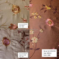 reliable qulity Embroidered silk spun form hangzhou china curtain fabric