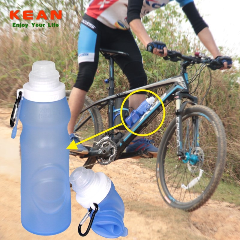 China Manfacturer 2015 New Products Silicone Squeezable Water Bottles Giveaways For Sport Event
