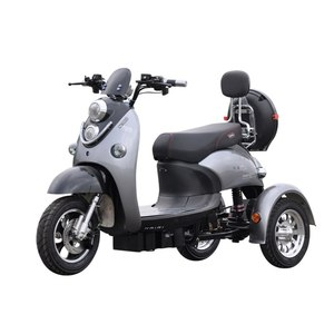 Best Selling Cheap 3-Wheel Adult Vespa Electric Moped Trike Motor Scooter For Sale