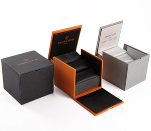 Luxury Custom Logo Mens Jewellery Leather Gift Box Packaging