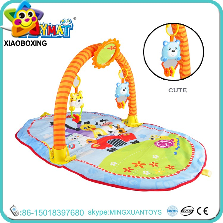 Hot item plastic and cotton musical baby play gym mat for sale