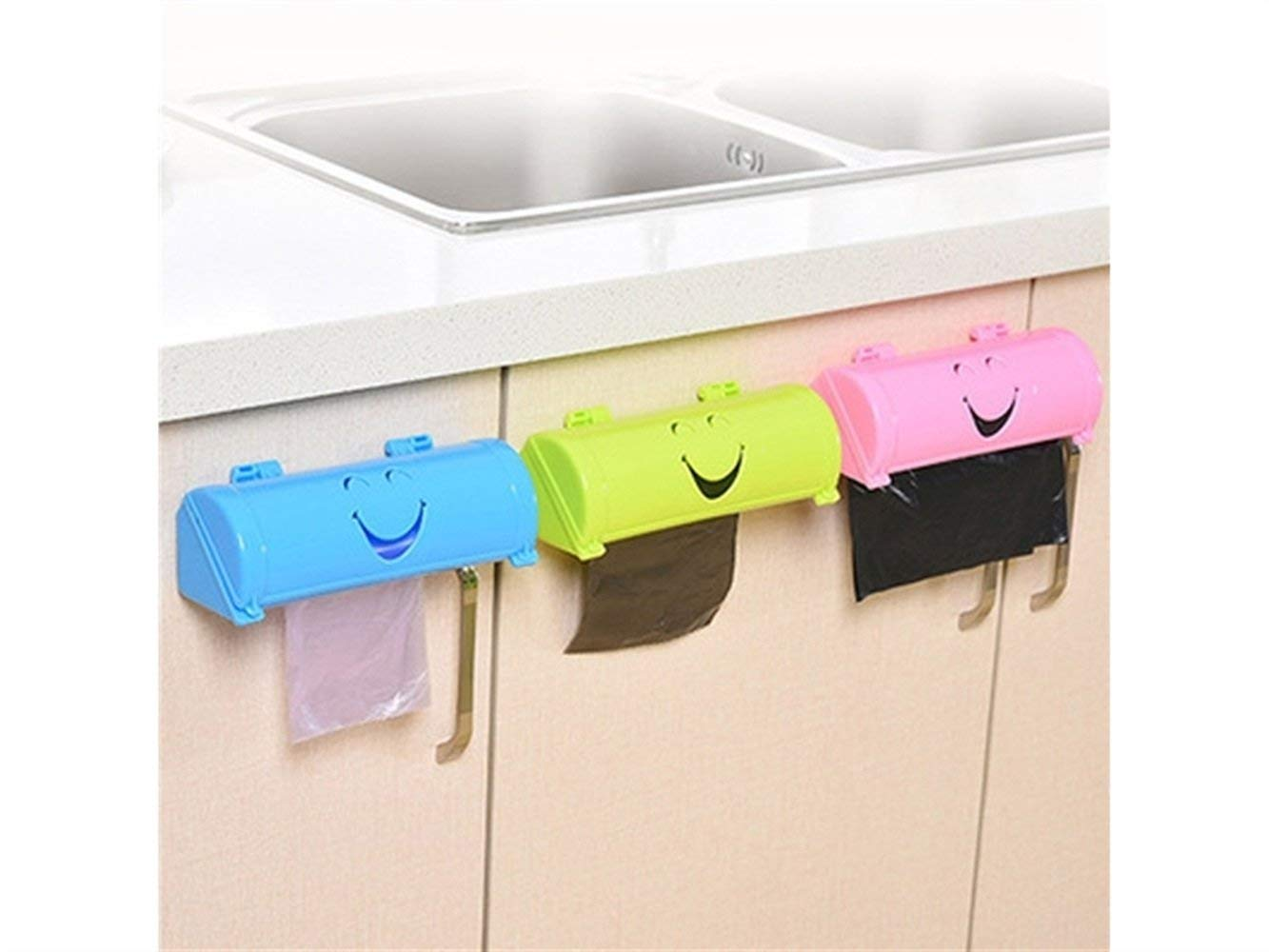 Yuchoi Perfectly Shaped Eco-friendly Smile Face Garbage Bags Storage Box Kitchen Paste Type Plastic Container