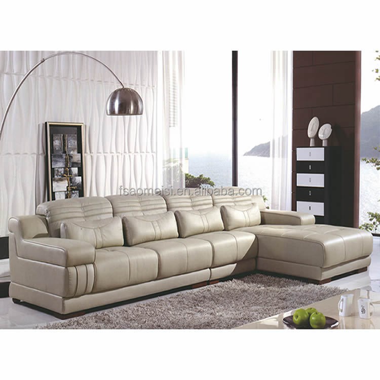 Pure Leather Sofa Sets: Contemporary Pure Leather Home Living Room Furniture Sofa