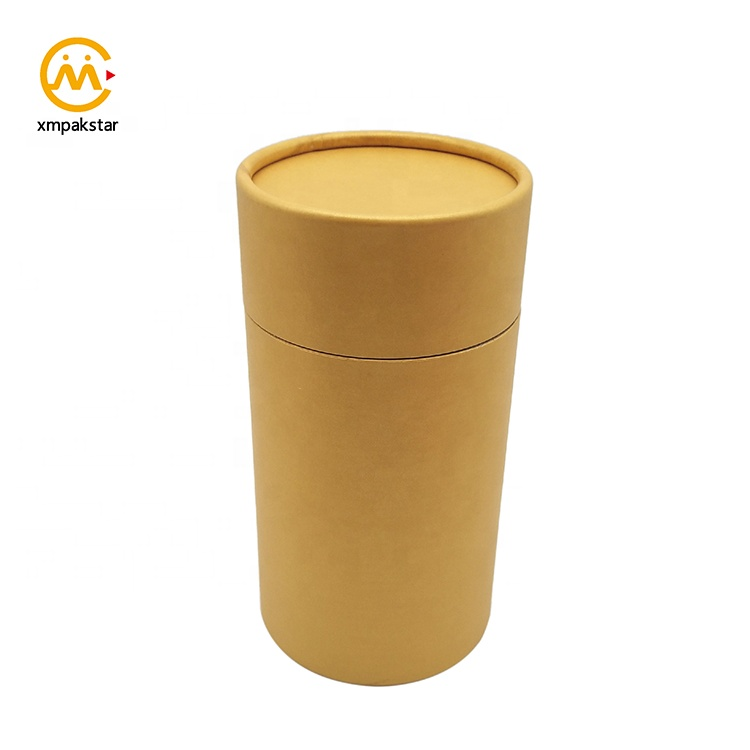 Custom round cardboard packaging paper cylinder box for candle jar