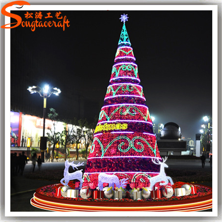 Chino decoraci n del rbol artificial gigante led - Arbol de navidad led ...