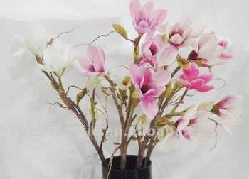 2014 sj af110 wholesale artificial pink magnolia for hotel wedding 2014 sj af110 wholesale artificial pink magnolia for hotel wedding decor fake silk magnolia flower artificial mightylinksfo