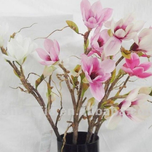 Buy cheap china custom made silk flowers products find china custom 2014 sj af110 wholesale artificial pink magnolia for hotel wedding decor fake silk magnolia flower artificial mightylinksfo