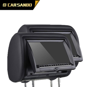 Supports DVD/CD dual screen 9'' headrest car dvd player with AV