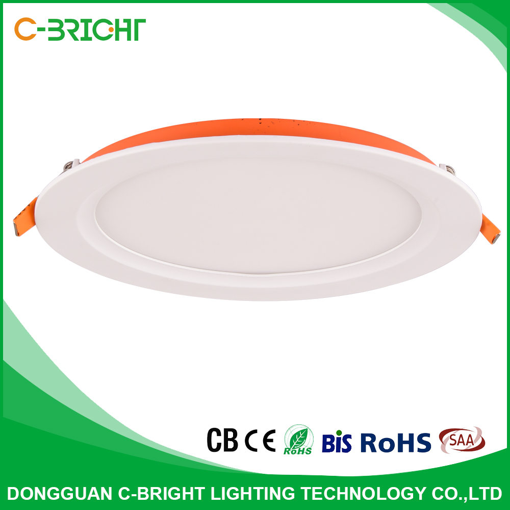 ultra thin recessed led lighting 3w6w12w18w round plastic LED panel light