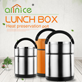 Allnice wholesale large capacity thermal stainless steel vacuum food container with handle
