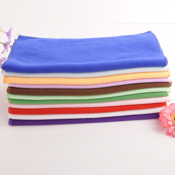 Microfibre printable logo embossed picture customized towels colorful super absorption microfiber portal cleaning cloth