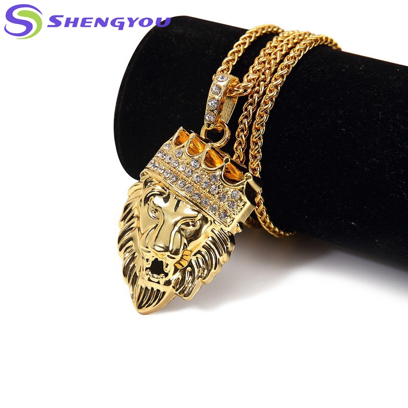 Wow So Cool Style Gold Chain With The Lion King Diamond Plated ...