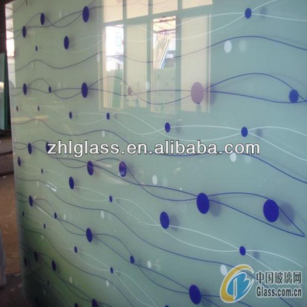 Silk screen printed glass for buildings