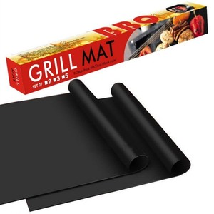 Free Sample FDA LFGB certified PTFE Teflon Non-stick BBQ Grill Mat Dishwasher safe