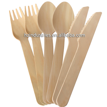 Best Wood For Disposable Wooden Spoon Fork Knife Wooden Kitchen Spoons  Wholesale