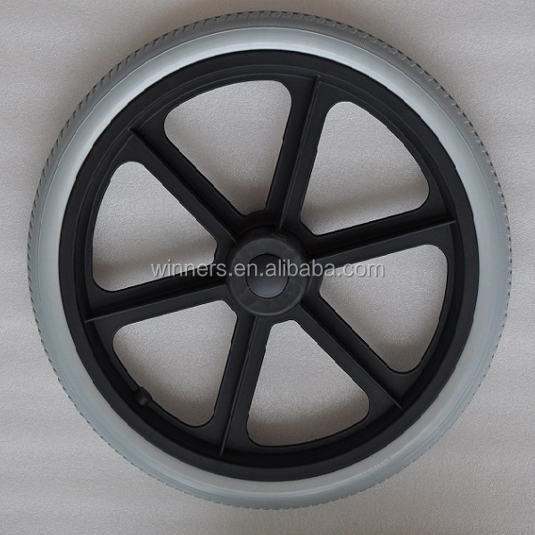 wholesale 16 inch PU foam plastic spoke cart wheel