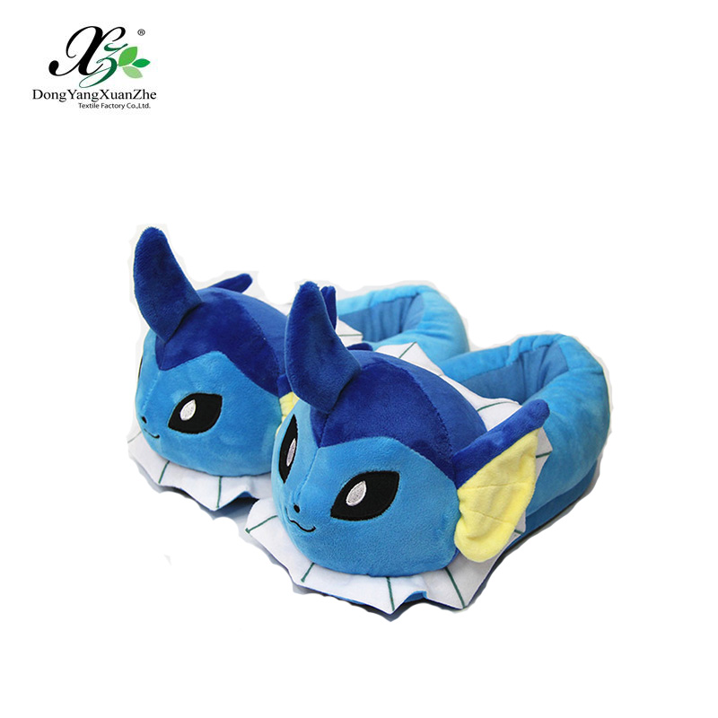 Cozy Plush Indoor Fully Cover Non-Slip Slipper with Pokemon Cartoon