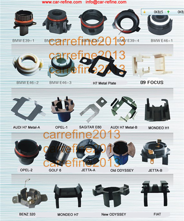 H7 Metal Plate Hid Xenon Headlight Bulb Holder Adapter H7 Hid Base ...