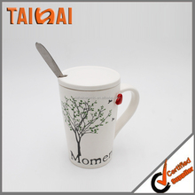 Personalized Logo Print Sublimation Ceramic Mug with lid and cover