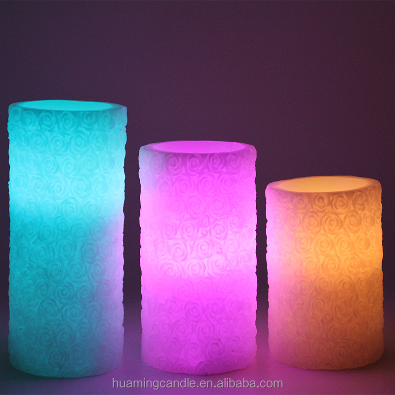 LED candle type and Color Changing Feature led scented candle