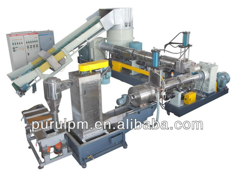 Two-stage Extrusion/single screw extrusion line /pelletizing line