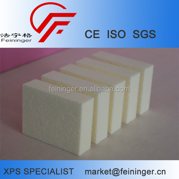 White XPS polystyrene extrusion foam board